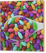 Candy Covered Sunflower Seeds Wood Print