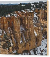 Canyon Alcoves Wood Print