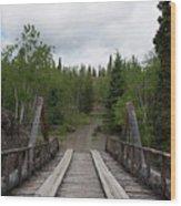 Canyon Creek Bridge Wood Print