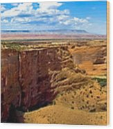 Canyon De Chelley Panoramic Wood Print