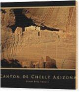 Canyon De Chelly Arizona Black Border Wood Print