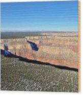 Canyon Edge Aerial Plateau Wood Print