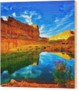 Canyon Glories Wood Print