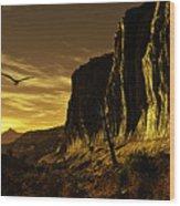 Canyon Hunt Wood Print