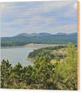 Canyon Lake Dam Wood Print