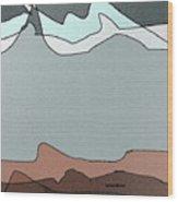 Canyon Land Wood Print