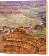 Canyon Peak Wood Print