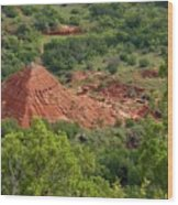 Canyon Pyramid Wood Print