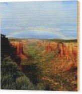 Canyon Rainbow Wood Print