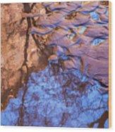 Canyon Reflections Wood Print