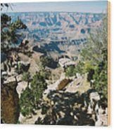Canyon Shadows Wood Print