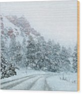Canyon Snow Wood Print