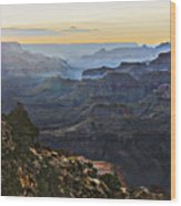 Canyon Sundown Wood Print