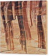 Canyon Textile Design Wood Print