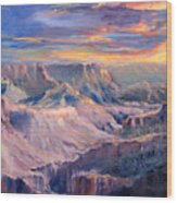 Canyon Twilight Wood Print