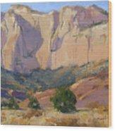 Canyon Walls Of Zion National Park Wood Print
