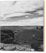 Canyonlands National Park Utah Pan 06 Bw Wood Print