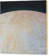 Canyons Around Plutos North Pole Wood Print