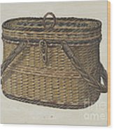 Cap Basket Wood Print