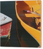 Cape Ann Boats Wood Print
