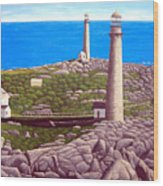 Cape Ann Twin Towers Wood Print