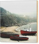 Cape Breton Fishing Boats Wood Print