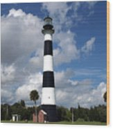 Cape Canaveral Light Florida Wood Print
