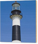 Cape Canaveral Lighthouse On The East Coast Of Florida Wood Print