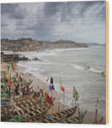 Cape Coast Fishing Village Wood Print
