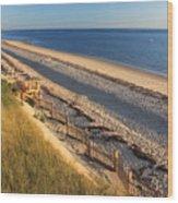 Cape Cod Bay Beach Truro Wood Print