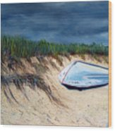 Cape Cod Boat Wood Print