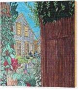 Cape Cod Cottage Wood Print