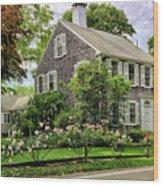 Cape Cod Floral Wood Print