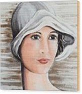 Cape Cod Girl Wood Print