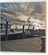 Cape Cod Harbor Wood Print