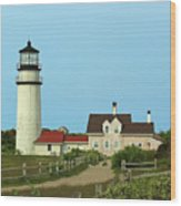 Cape Cod Highland Lighthouse Wood Print by Juergen Roth