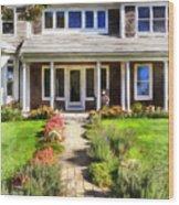 Cape Cod Home Wood Print