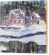 Cape Cod House Wood Print