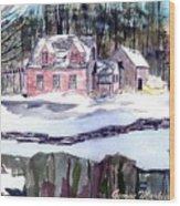 Cape Cod House Wood Print