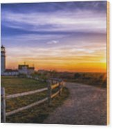 Cape Cod Light Wood Print by Mark Papke
