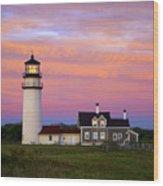 Cape Cod Light Truro Wood Print