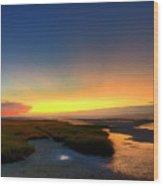 Cape Cod Sunset Wood Print