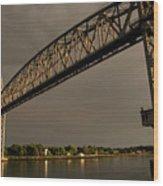 Cape Cod Train Bridge Wood Print