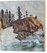 Cape Disappointment Wood Print