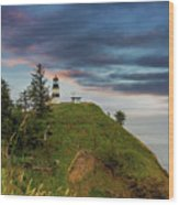 Cape Disappointment After Sunset Wood Print