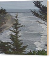 Cape Disappointment Beach Wood Print