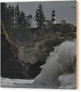 Cape Disappointment Finale Wood Print