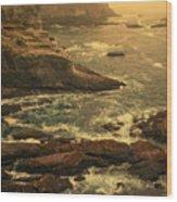 Cape Flattery Misty Morning - Washington Wood Print