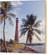 Cape Florida Light Wood Print