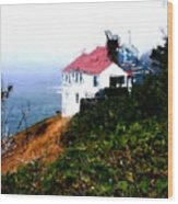 Cape Foulweather Wood Print